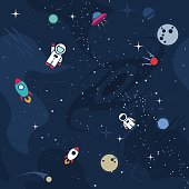 Vector cosmos background design