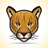 Vector cougarr head graphic design