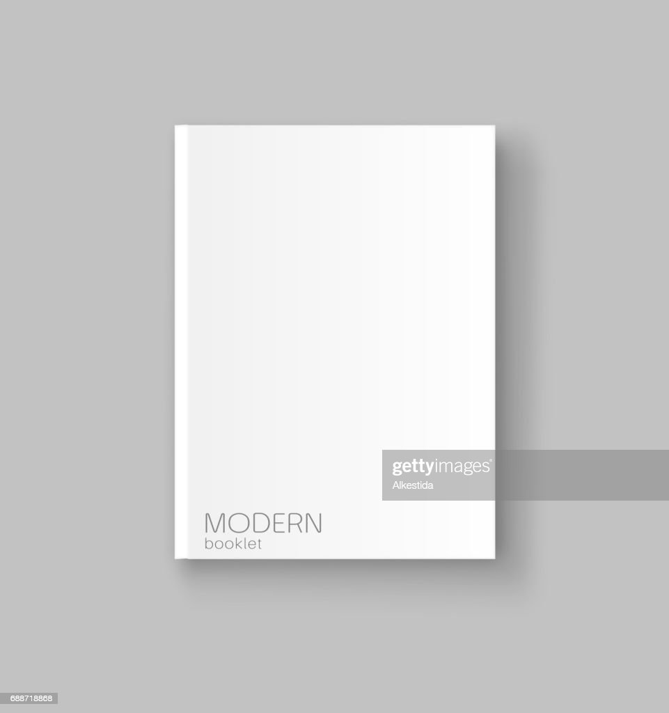 Vector cover, booklet template, magazine, book, brochure. Element for business design. 3d, isolated on a gray background