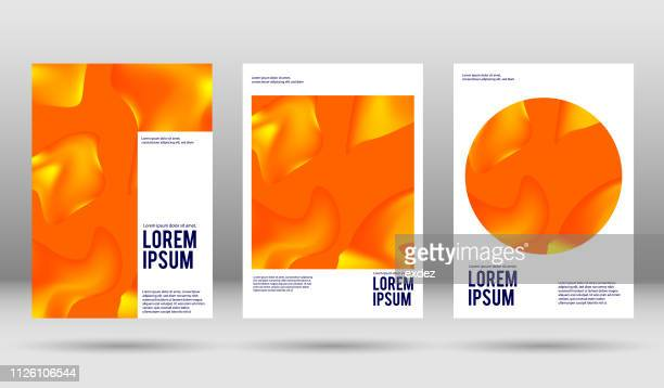 vector cover design templates - magazine cover stock illustrations