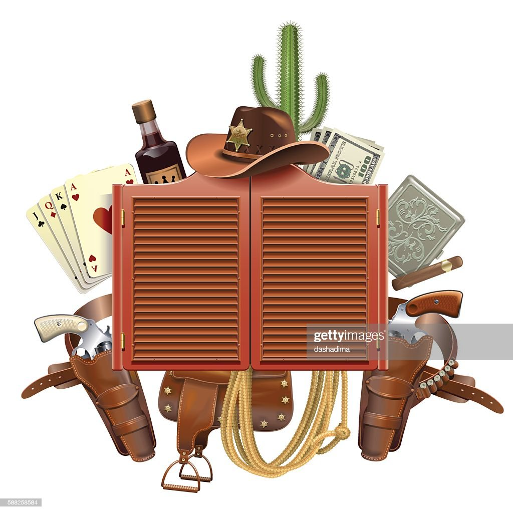 Vector Cowboy Saloon Concept