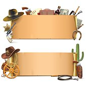 Vector Cowboy Scrolls