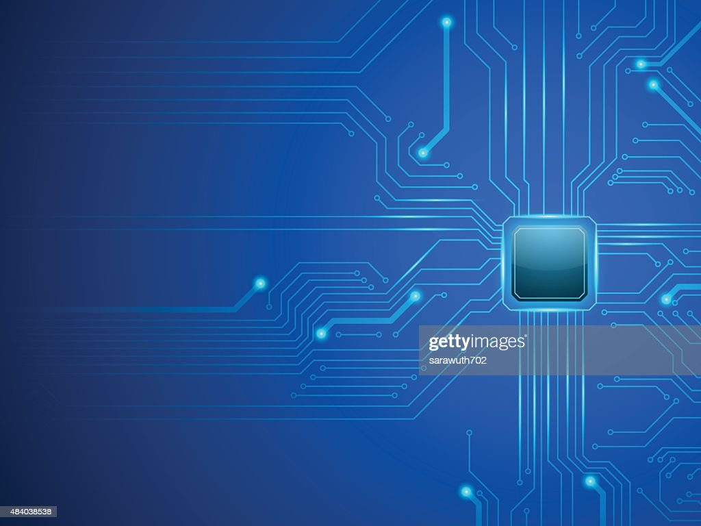 vector cpu computer technology, electronic concept.
