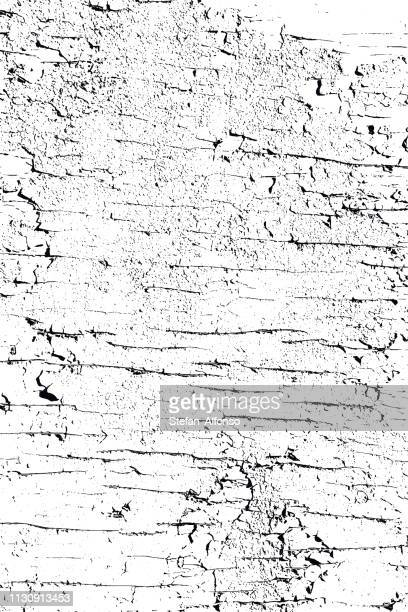 vector cracked and peeling paint - chipping stock illustrations
