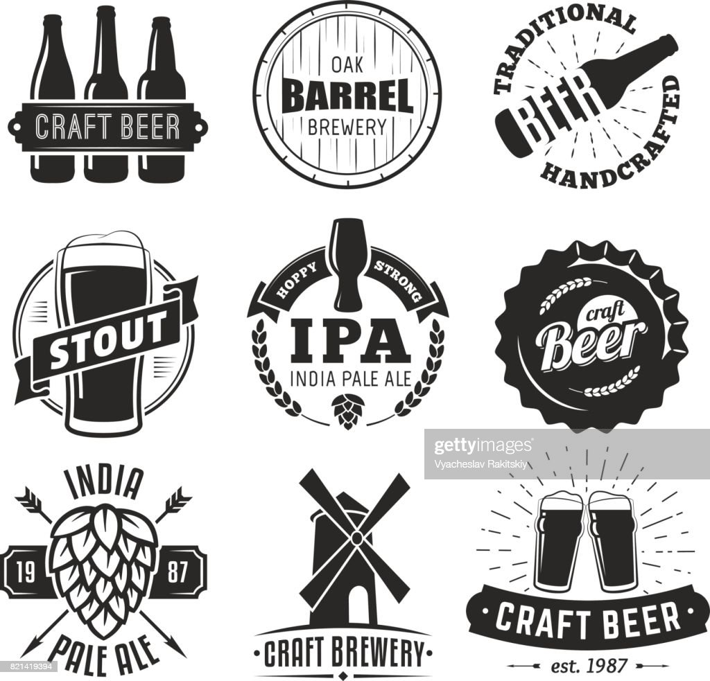 Vector craft beer badges.