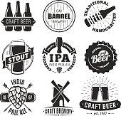 Vector craft beer badges.