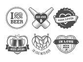 Vector craft beer lover badges.