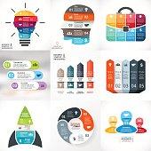 Vector creative arrows infographics. Template for cycle diagram, graph, presentation