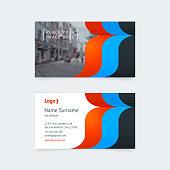 Vector creative business card template.