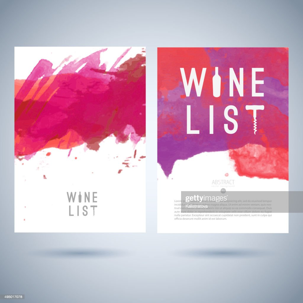 Vector creative wine list cover template