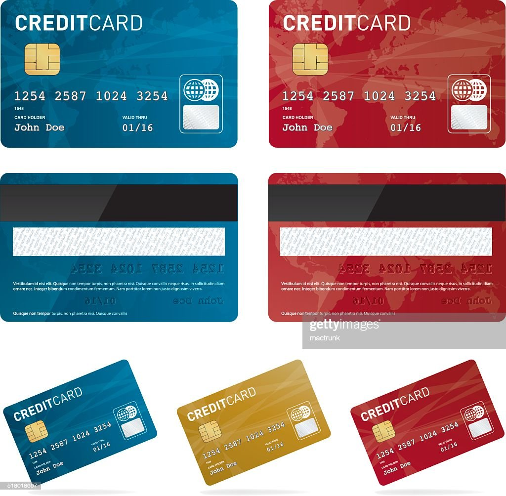 Vector credit card set