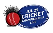 Vector cricket sport scoreboard spotlight background place for copy text ad.