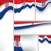 Vector Croatian Flag, Croatia Colors (Vector Art)