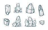Vector Crystals Illustraion
