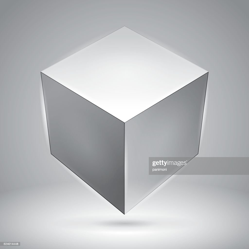 Vector cubes, transparent objects, graphic abstraction design