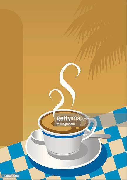 vector cup of coffee - tablecloth stock illustrations, clip art, cartoons, & icons