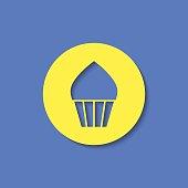 Vector cupcake icon. Food icon. Eps10