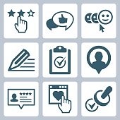 Vector customer testimonials icon set