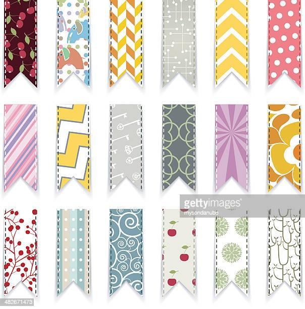 vector cute scrapbooking ribbons design element