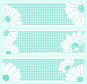 Vector daisies floral greeting card design