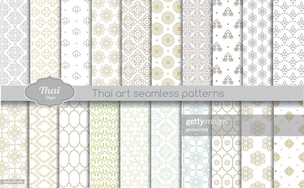 vector damask seamless pattern background. thai style seamless pattern