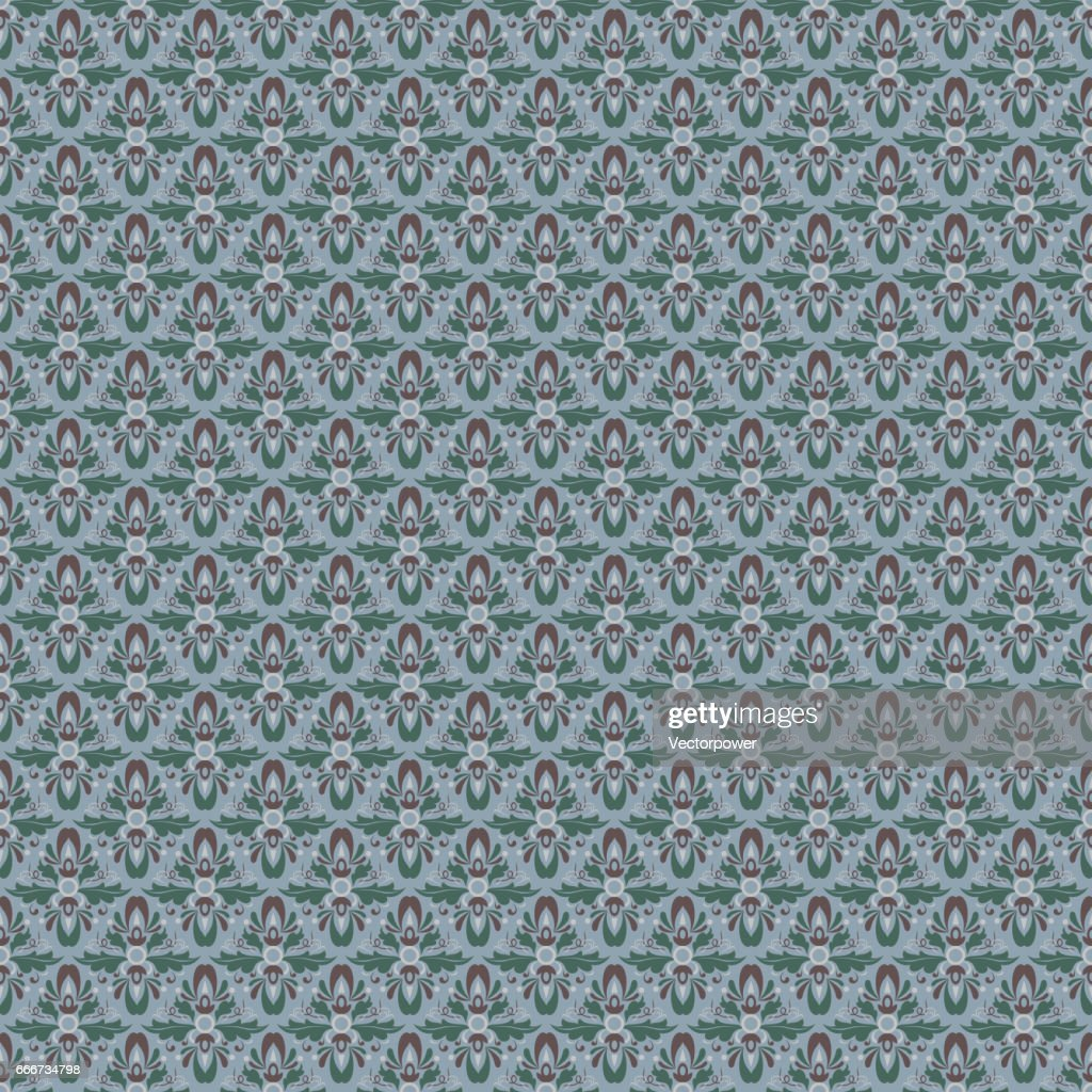 Vector damask vintage seamless pattern background