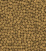 vector dark seamless coffee background