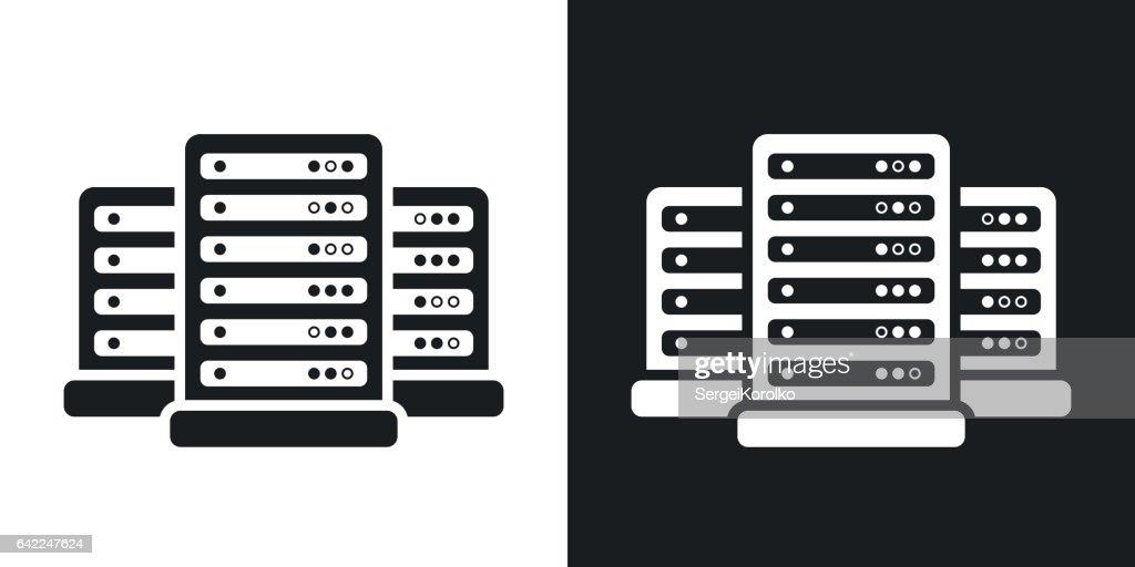 Vector data center icon. Two-tone version