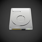 Vector Data Storage Hard Disc Drive Icon