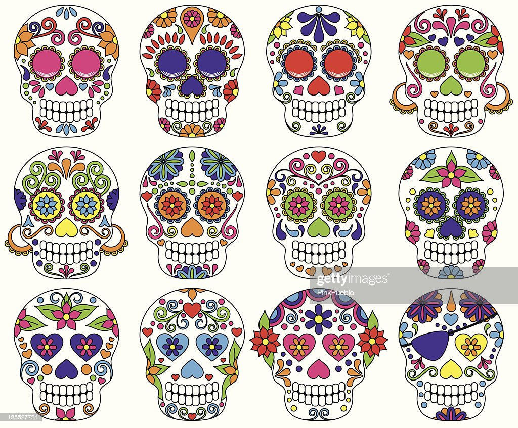 Vector Day of the Dead or Sugar Skulls