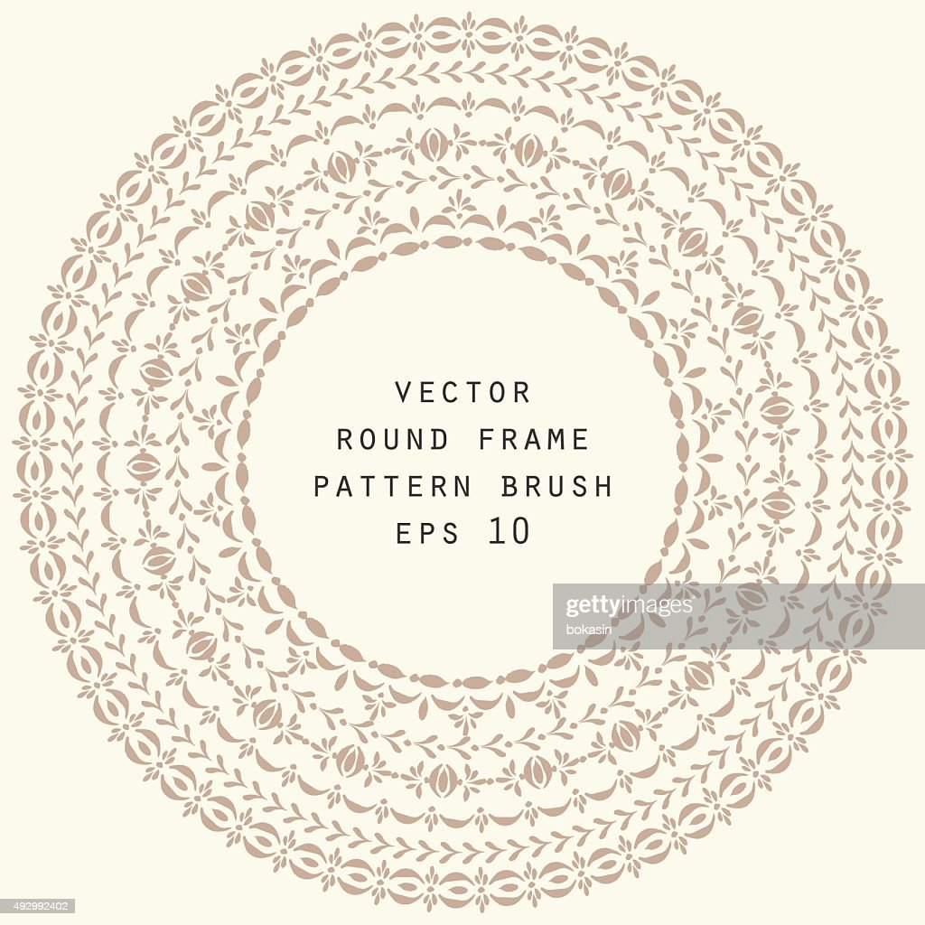 Vector decorative frame background and pattern brushes
