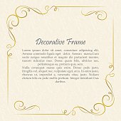 Vector decorative frame. Elegant element for design template.