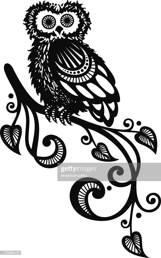 Vector Decorative Owl