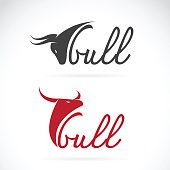 Vector design bull is text