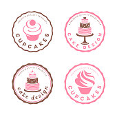 Vector design element. Cake icons set