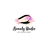 Vector design element for beauty salon. Lash and Brow