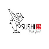 Vector design element for sushi restaurant