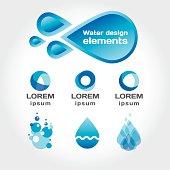 Vector design elements water theme