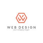Vector design for business. Letter W