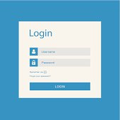 Vector design for login interface with login and password