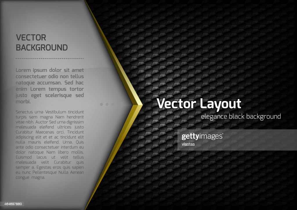 Vector design layout template with honeycombed black surface