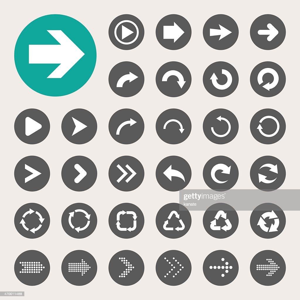 Vector design of basic arrow icons