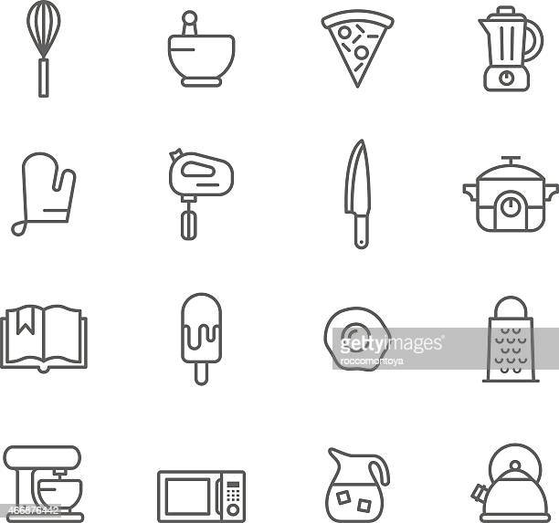 Vector design of kitchen icons