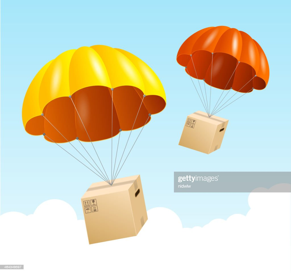 Vector design of parachutes delivering packages