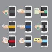 Vector design Technology concept for mobile apps