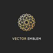 Vector  design template - abstract symbol in ornamental arabic style