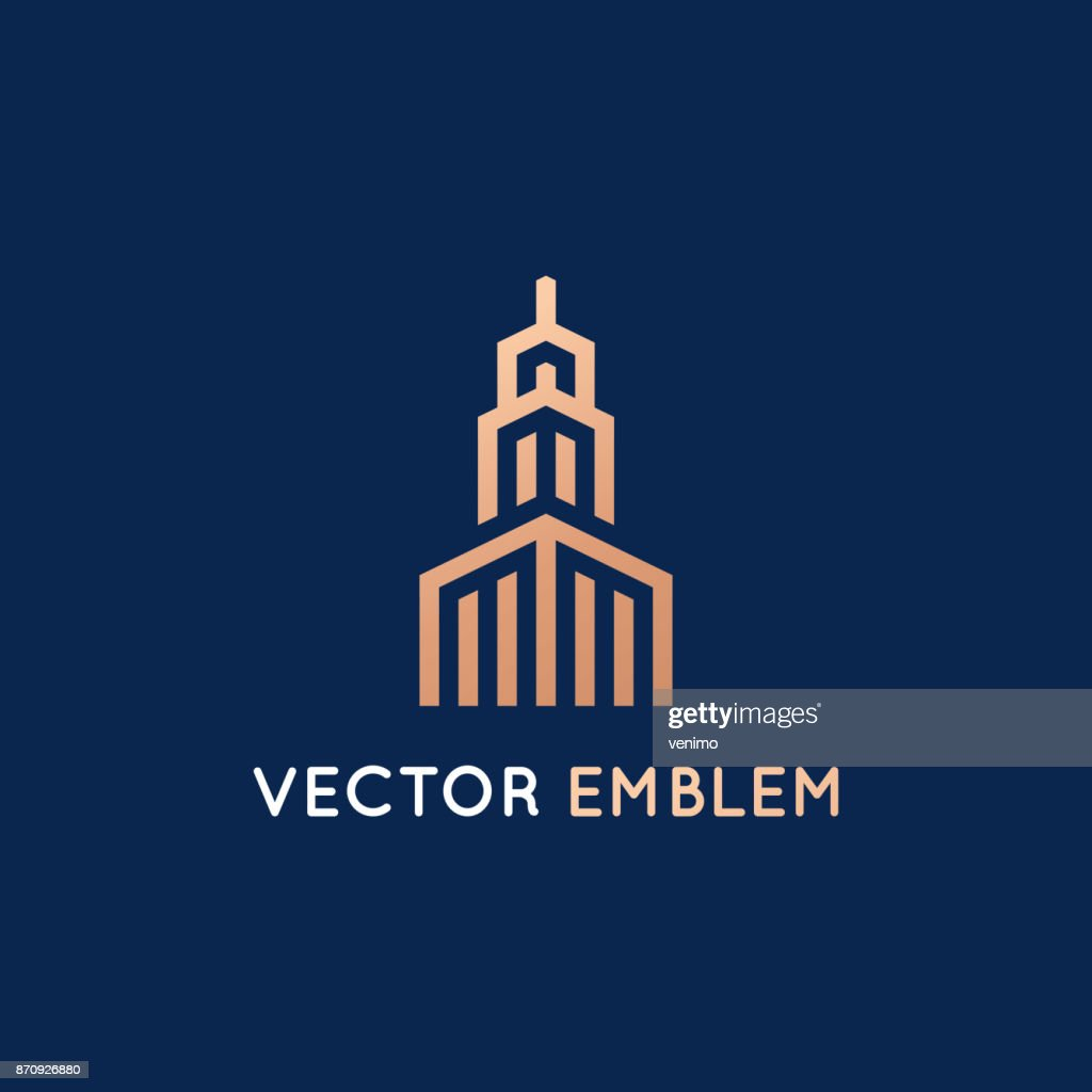 Vector design template - architecture and building sign