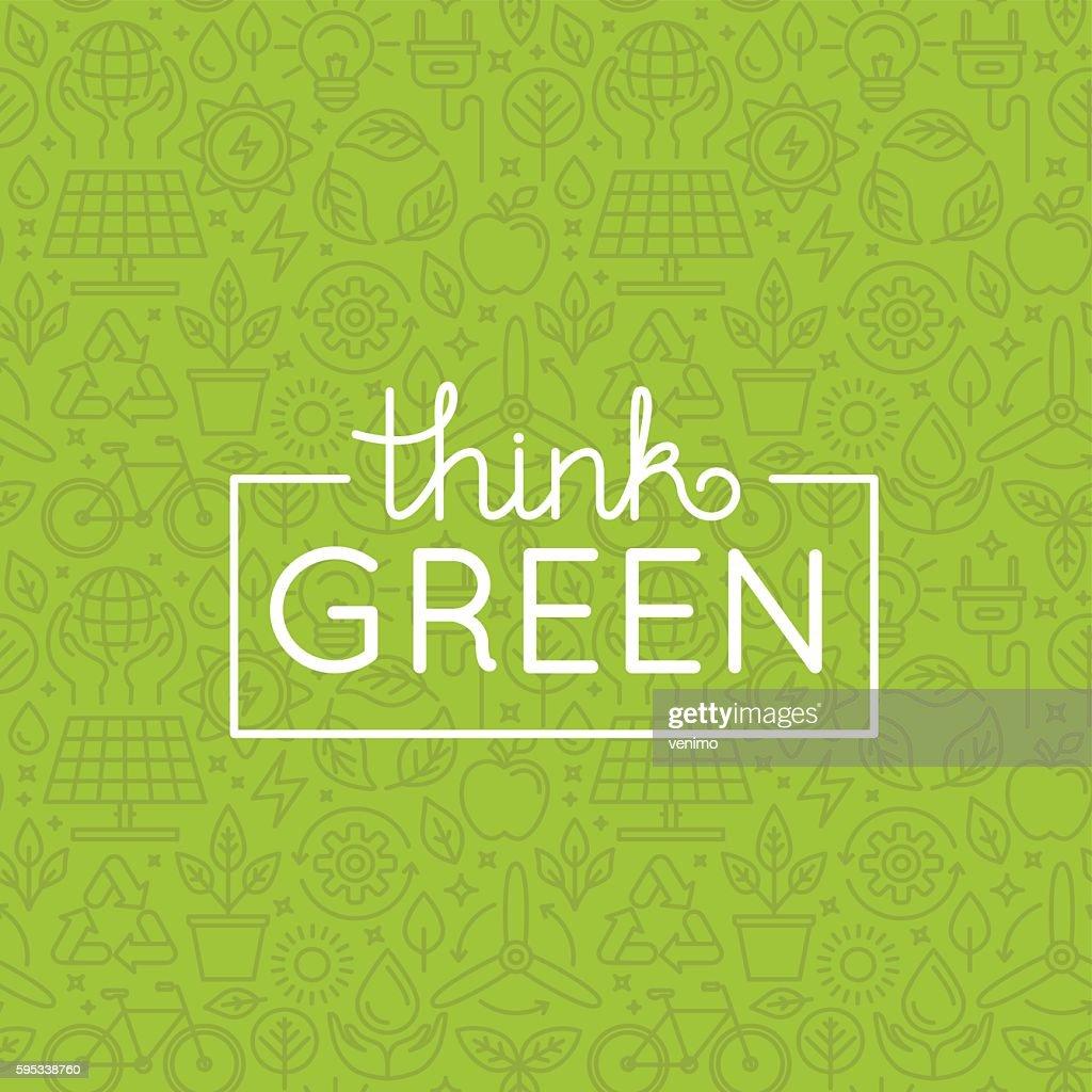 Vector design - think green
