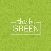 Vector design - think green
