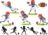Vector designs of American football players